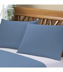 fronha avulsa camesa azul escuro 150 fios 50cm x 70cm