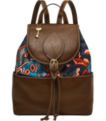 fossil women's luna leather backpack