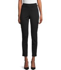 calvin klein women's stretch cargo pants - black - size xs