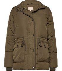 layla puffer jacket gevoerd jack groen soft rebels