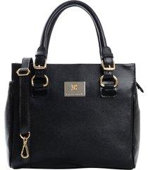 bolsa tiracolo couro laura prado pingente preta - preto - feminino - dafiti
