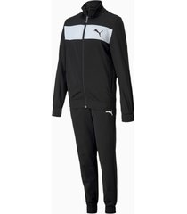 polyester trainingspak, zwart/aucun, maat 116 | puma