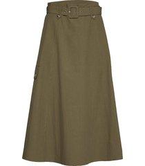adalinegz skirt ms20 knälång kjol grön gestuz