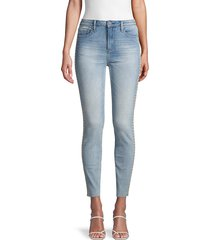 driftwood women's jackie high-rise floral-embroidered jeans - light wash - size 24 (0)