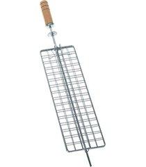 grelha para churrasco giratória plana gpl-510 - giragrill - giragrill