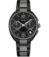fendi men's momento two-tone stainless steel chronograph bracelet watch