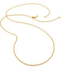 """rolo chain 32""""/81cm with adjuster, gold vermeil on silver"""