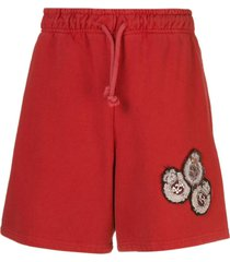 424 jersey shorts with patches on the front - red