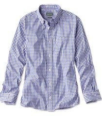 beacon stretch plain weave long-sleeved shirt, blue/white, xx large