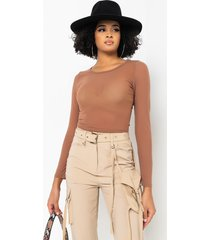 akira paxton overachiever long sleeve casual crop top