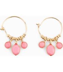 orecchini a cerchio (rosa) - rainbow