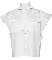 linora blouses short-sleeved wit custommade