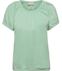 betina-o-ss-solid t-shirts & tops short-sleeved grön free/quent