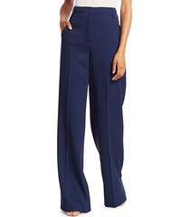 akris punto women's floyd diagonal-effect wool pants - ink - size 8