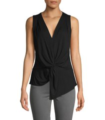 bailey 44 women's sleeveless twist-front top - black - size s