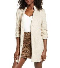 women's vero moda katrine brushed jacket, size x-large - grey