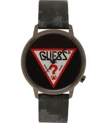 reloj gris-negro guess