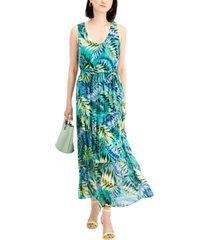 nine west chiffon maxi dress