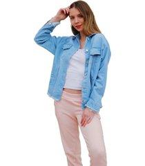 chaqueta azul odas oversize jean