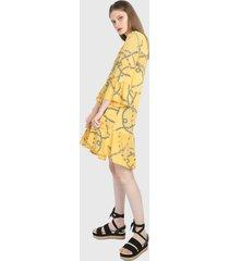 vestido amarillo paris district