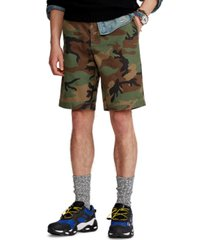 polo ralph lauren men's big & tall classic-fit camo twill shorts
