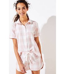 loft plaid pajama set