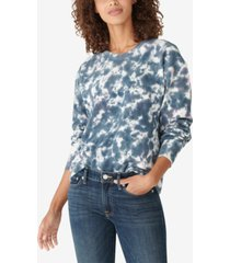 lucky brand tie-dyed pullover sweatshirt