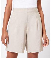 loft textured fluid bermuda shorts