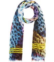 'danao' multi dot contrast stripe scarf