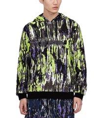 ax armani exchange men's tie-dyed logo hoodie