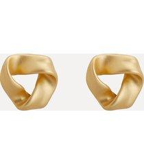 orecchini classici piercing in oro opaco orecchini geometrici anallergici in argento sterling 925