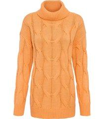 maglione a trecce (arancione) - bodyflirt