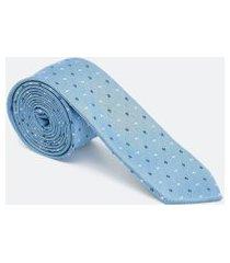 gravata slim estampada | preston field | azul | u