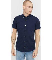 jack & jones jjesummer shirt s/s s20 sts skjortor mörk blå