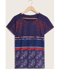 camiseta estampado floral azul 6