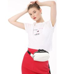 camiseta blanca-multicolor tommy jeans