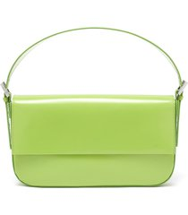'manu' semi patent leather baguette shoulder bag