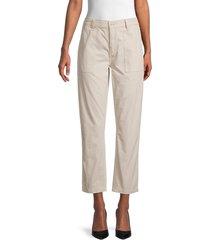 joe's jeans women's straight-fit utility pants - beige - size 25 (2)