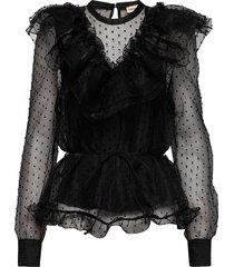 violet blouse lange mouwen zwart custommade