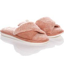 slippers plush thm mujer rosado