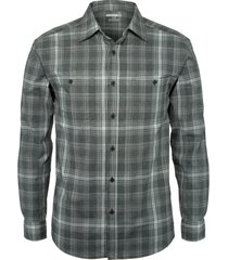 wolverine men's plainwell long sleeve shirt gunmetal plaid, size xl