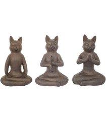 beeldjes signes grimalt kat set 3 stuks
