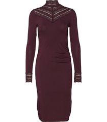 dress ls knälång klänning röd rosemunde