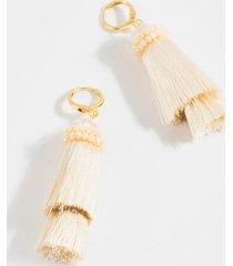 sonia chandelier tassel earrings - ivory
