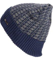 uomo winter plus velvet geometric modello cappello lavorato a maglia outdoor caldo antivento skullies beanie hat