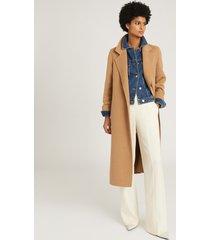 reiss philipa - denim jacket in mid blue, womens, size 14