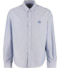kenzo oxford cotton button-down shirt