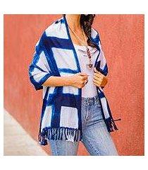 cotton shawl, 'pleasant plaid' (el salvador)