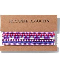 roxanne assoulin color therapy® purple bracelet set