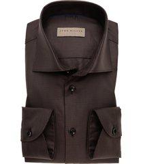 overhemd john miller bruin tailored fit dessin